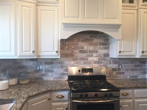 how to put backsplash in kitchen love brick backsplash in the kitchen easy diy install