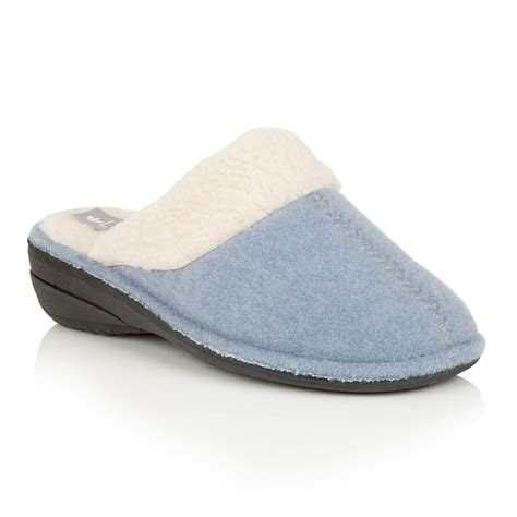 mules slippers lotus slippers everdeen light blue faux fur mules