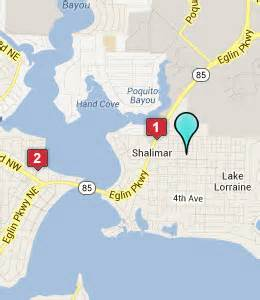 map of shalimar florida shalimar fl hotels motels see all discounts