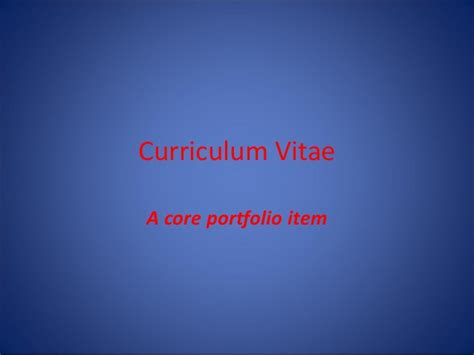 layout of lcvp portfolio what is a cv