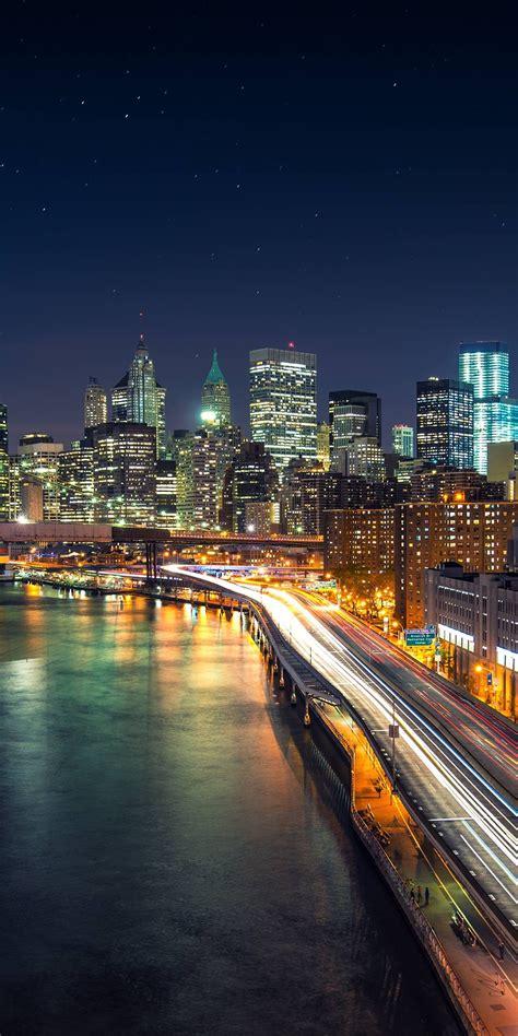 city night raod wallpaper