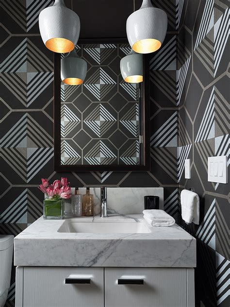 Dramatic Wallpaper For Powder Room - 20 gorgeous wallpaper ideas for your powder room