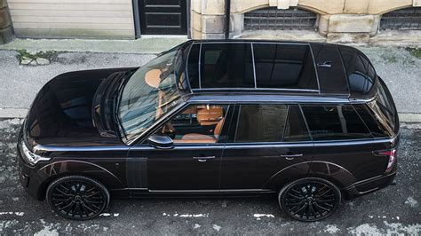 burnt orange range rover range rover rs with visual tweaks from kahn design