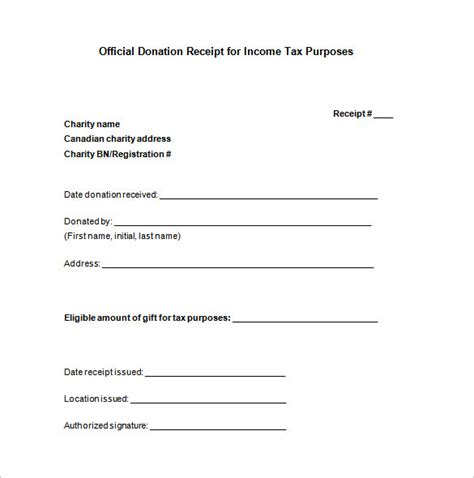 donor tax receipt template 10 donation receipt templates doc pdf free premium