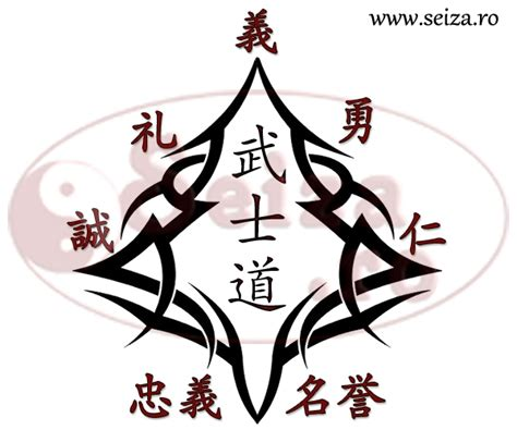 tribal samurai tattoo kanji the seven virtues of the samurai kanji