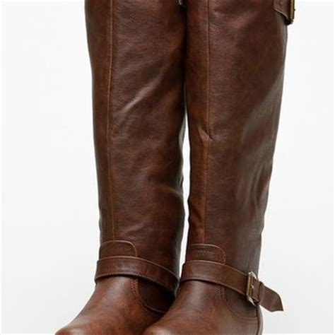 bamboo knee high rider brown boots from cici shoes