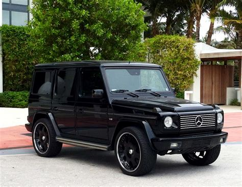 mercedes g wagon blacked exotic cars on the streets of miami black mercedes g