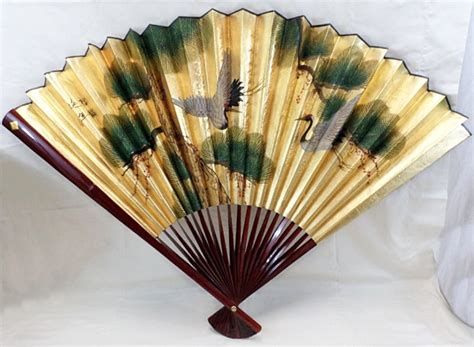 large decorative wall fans large 55 quot x 35 quot japanese decorative folding fan flying