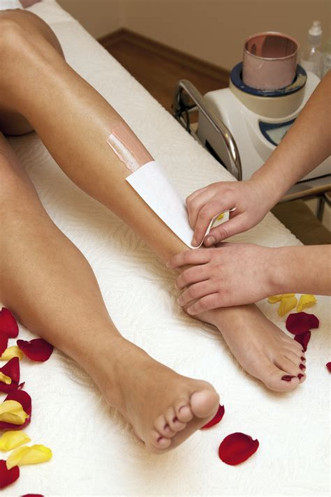 depilation with wax in salon peace