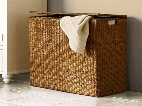 Country Bathroom Designs design pottery divided laundry hamper dirty clothes