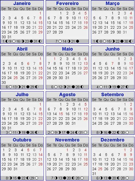 Calendario Fases Da Lua Fases Da Lua Calendario New Calendar Template Site
