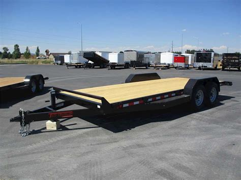 flat bed trailers 2016 tnt flatbed trailer for sale rigby id 8766506