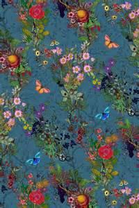Purple And Teal Bedroom timorous beasties fabric bloomsbury garden fabric