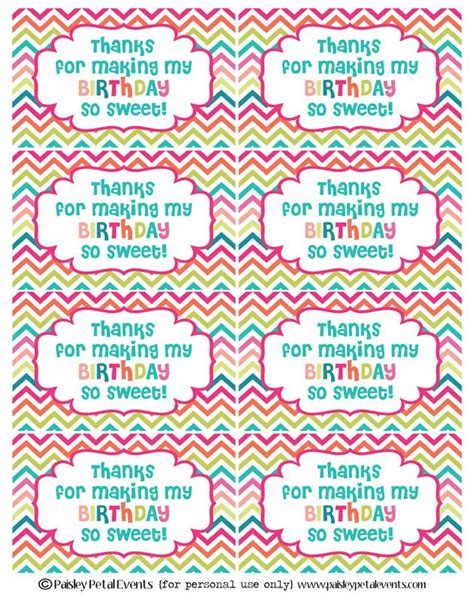 printable party labels easy classroom birthday treats classroom birthday treats