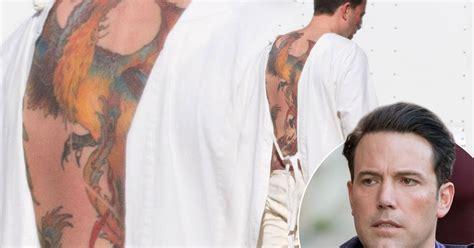 phoenix tattoo affleck ben affleck reveals huge phoenix tattoo covering his whole