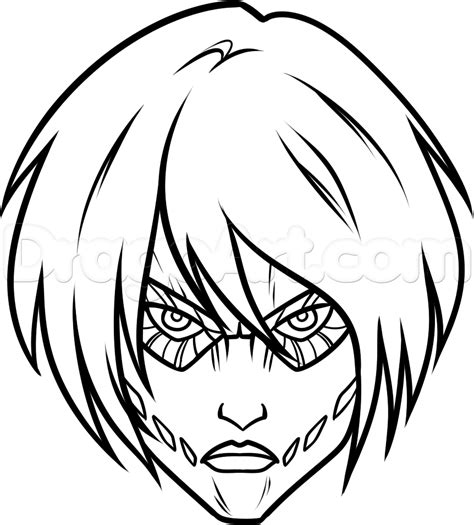 easy drawings how to draw titan easy step by step anime characters anime draw japanese