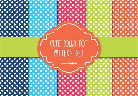 polka dot template free polka dot pattern set free vector stock