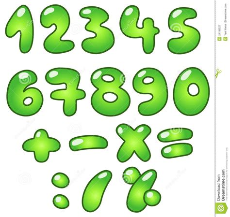 eco bubble numbers stock vector image  glossy