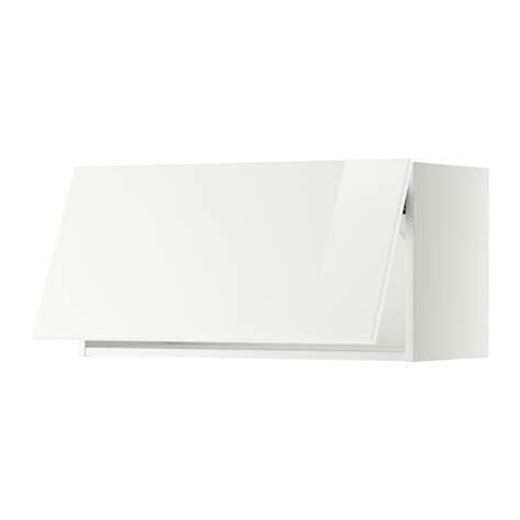 Wandschrank Horizontal Mit Vitrinentür by Metod Wandschrank Horizontal Wei 223 Ringhult Hochglanz