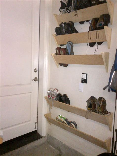 Shoes Rack Ideas by Shoe Racks For Our Garage Walls By The House