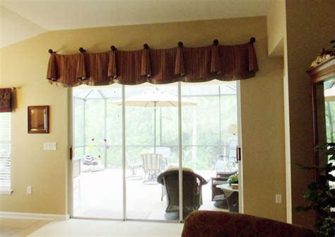 Sliding Glass Door Valance Window Valance For Sliding Door That Will Present Mesmerizing Outlook In Your Home Decorating