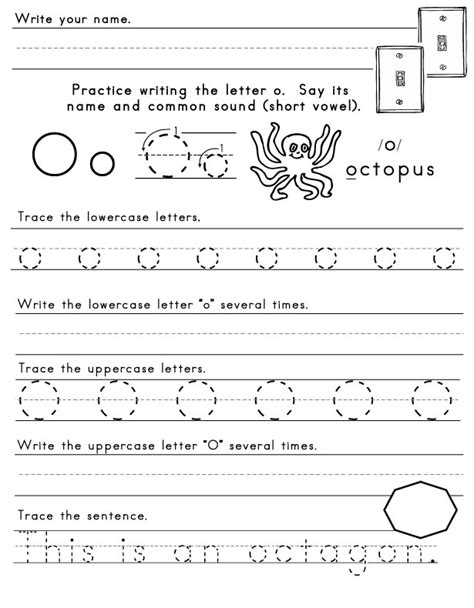 Worksheet Alphabet O | letter o worksheet new calendar template site
