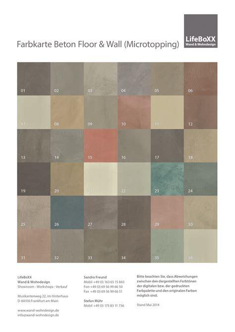 Farbkarte Schöner Wohnen by Beton Effekt Farbe Beton Effekt Farbe Basteln Mit Beton