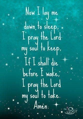 catholic prayer before bed now i lay me down to sleep quotes words pinterest
