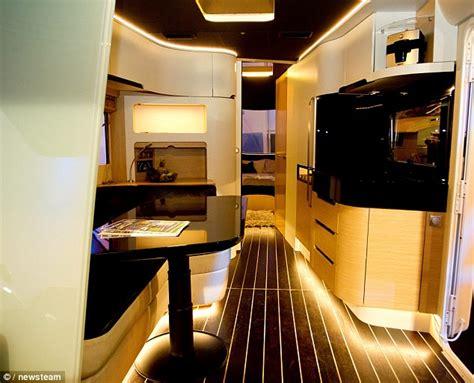 luxury caravans caravisio caravan features cinema touch screen shower and