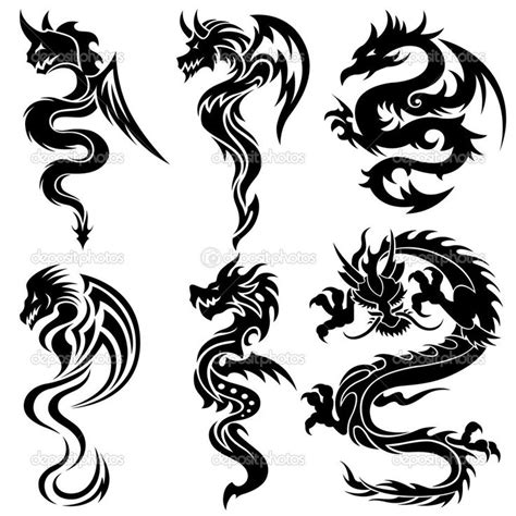 twin dragon tattoo designs tribal designs ideas