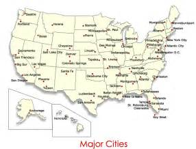 us maps with major cities
