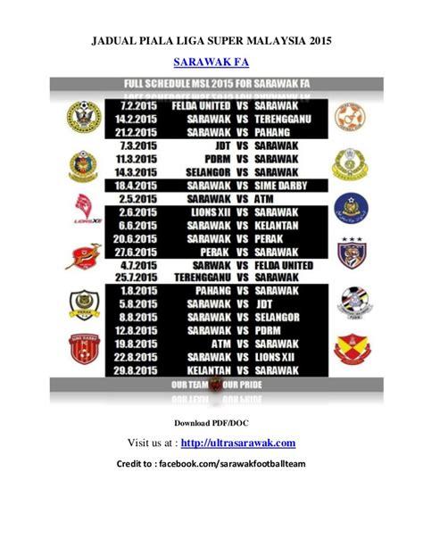 liga super malaysia jadual piala liga super malaysia 2015 sarawak fa