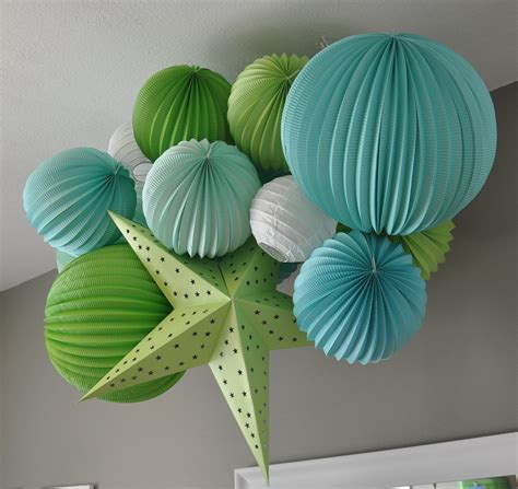 Nursery Ceiling Decor Diy Tutorial Paper Lantern Mobile