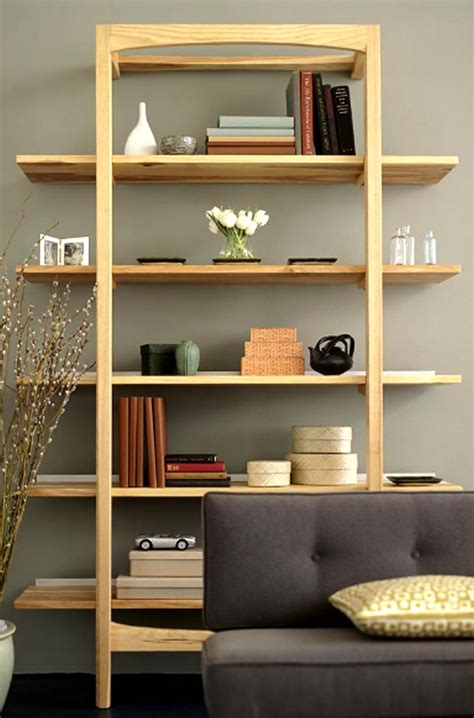 modern wood office furniture leaning shelves storage