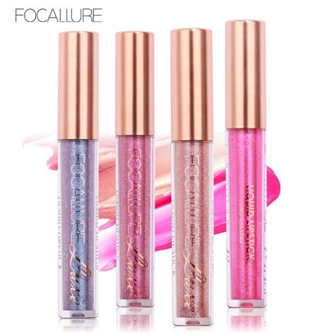 Lipstik Tint focallure brand makeup 6 colors tint liquid lipstick radiant shimmer color lipgloss longwear