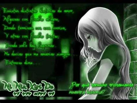 imagenes anime tristes con frases frases de amor anime youtube