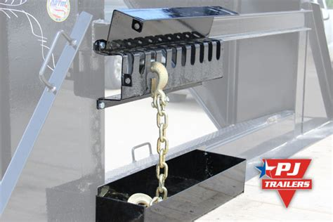 PJ Trailers Bolt On Chain Rack