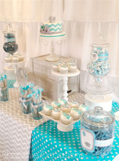 Baby Shower Table by Elephant And Balloon Dessert Table Www