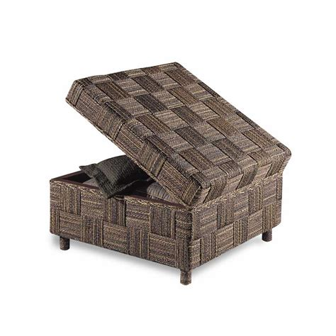 rolling ottoman with storage buy water hyacinth rolling ottoman padmas plantation