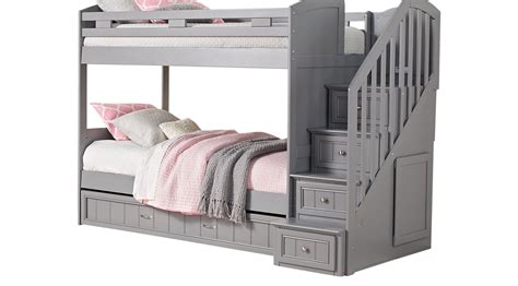 Cottage Bunk Bed Cottage Colors Gray Step Bunk Bed With Trundle