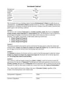 Guaranteed Investment Contract Template by Investment Contract Images