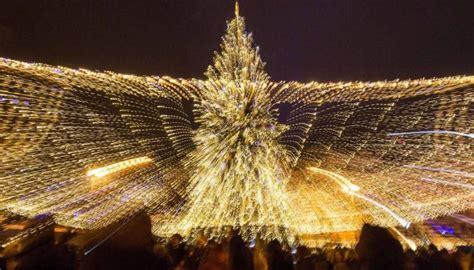 ukrain net on christmas tree ukraine s tree unveiled in kyiv photos