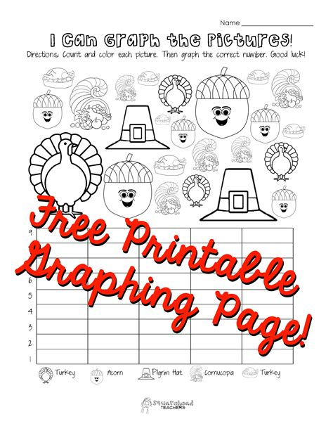 Free Printable Thanksgiving Graphs | i can graph the pictures thanksgiving 1 sticker