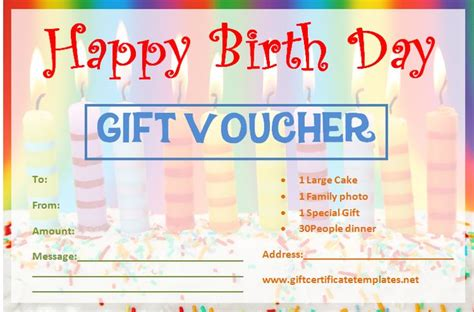 diy gift voucher template the gift certificate template and birthday gift