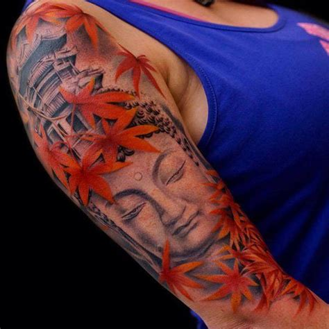 red buddha tattoo 60 inspirational buddha ideas color buddha