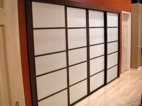 closet mirror sliding doors update closet doors to look like shoji screens hgtv