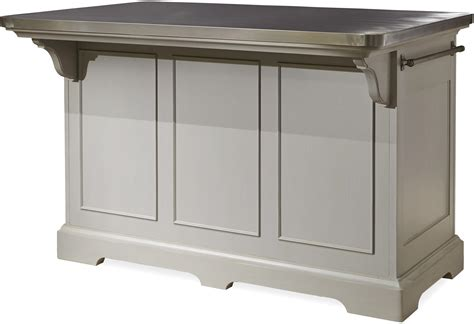 metal island kitchen the kitchen island with stainless wrapped metal top by