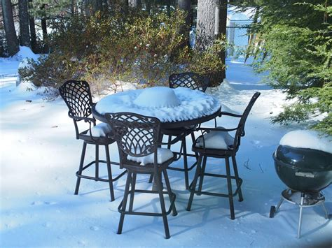 patio furniture new hshire the subtle of snow covered patio furniture new