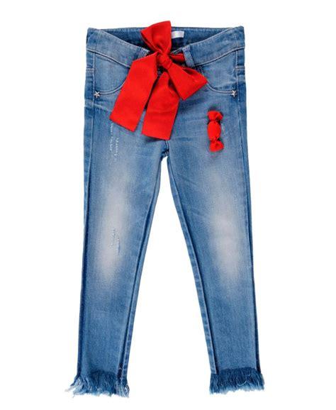 Lu L pantalon vaquero ni 241 a l u l u lazo rojo ro infantil