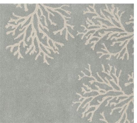 Pottery Barn Coral Rug Coral Border Rug Blue Pottery Barn